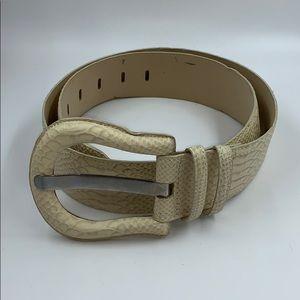 Worth Snakeskin Belt